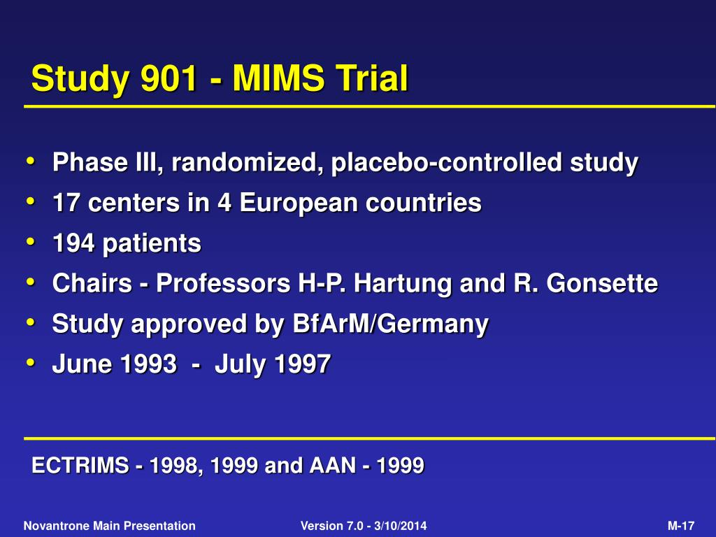 Study 901 - MIMS Trial