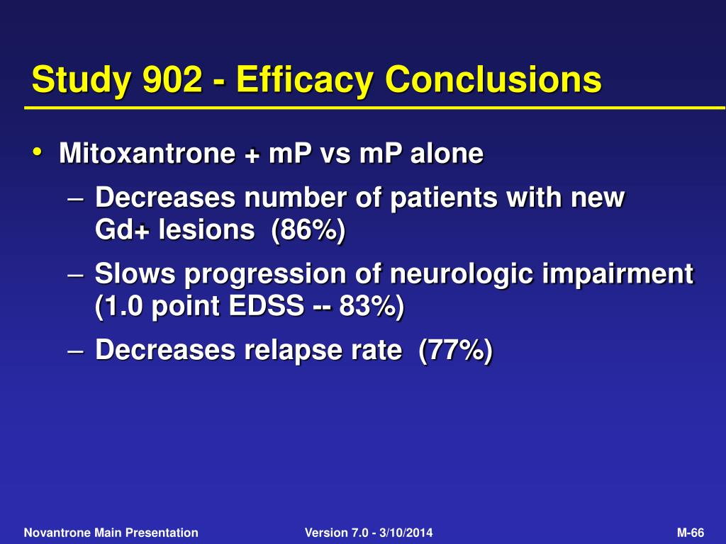 Study 902 - Efficacy Conclusions