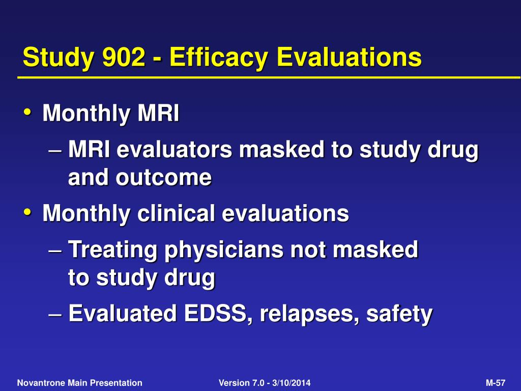 Study 902 - Efficacy Evaluations