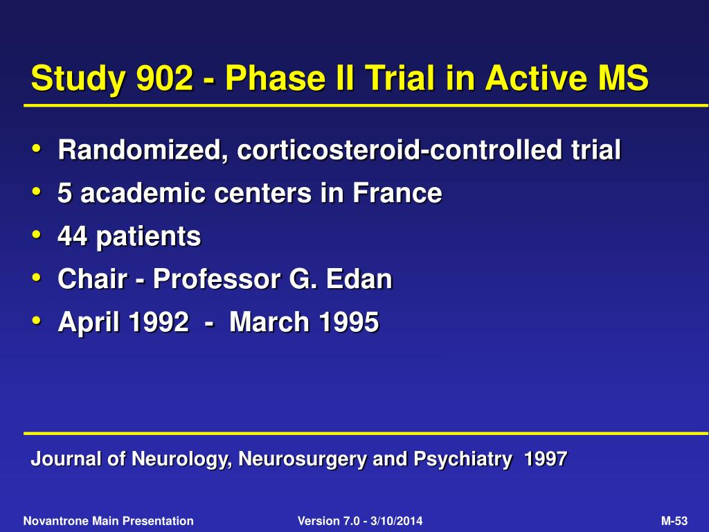 Study 902 - Phase II Trial in Active MS