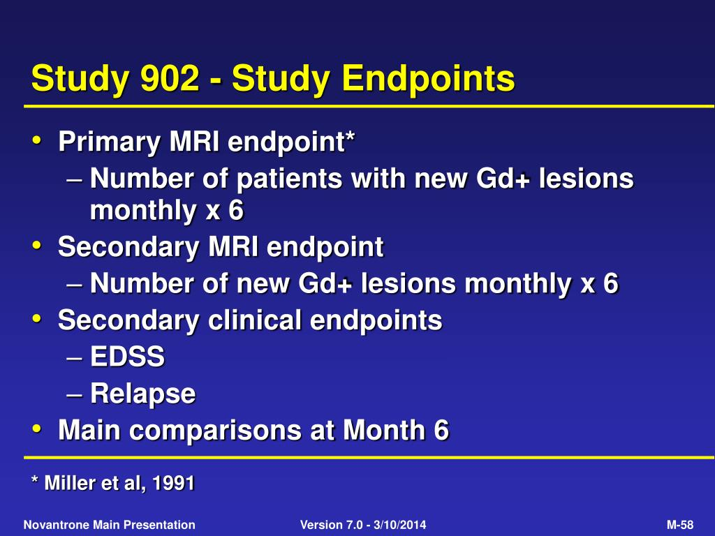Study 902 - Study Endpoints