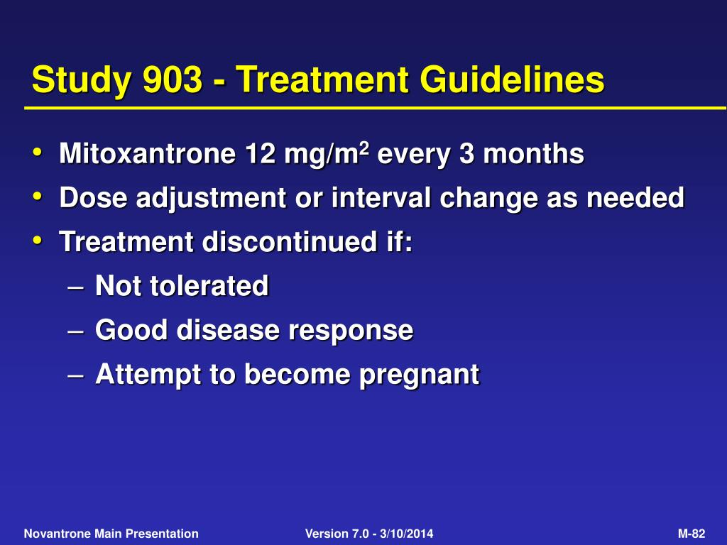 Study 903 - Treatment Guidelines