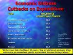 economic distress cutbacks on expenditure15