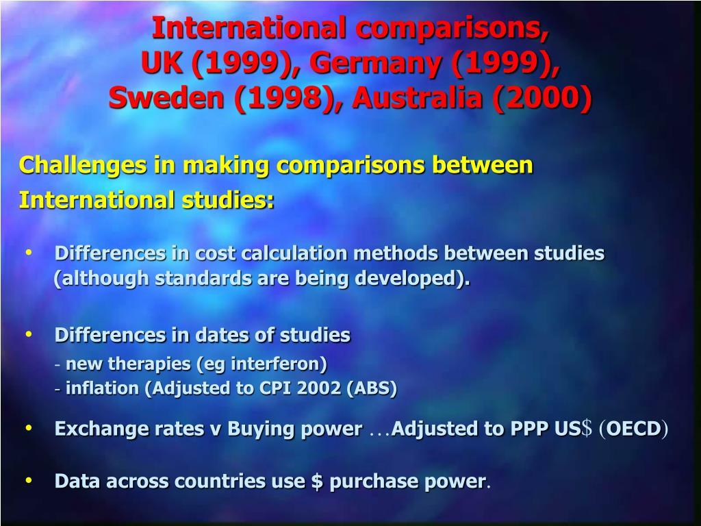 International comparisons,