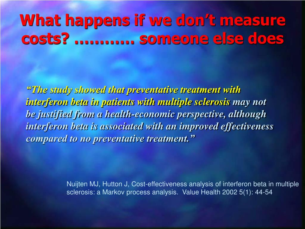 """""""The study showed that preventative treatment with interferon beta in patients with multiple sclerosis"""