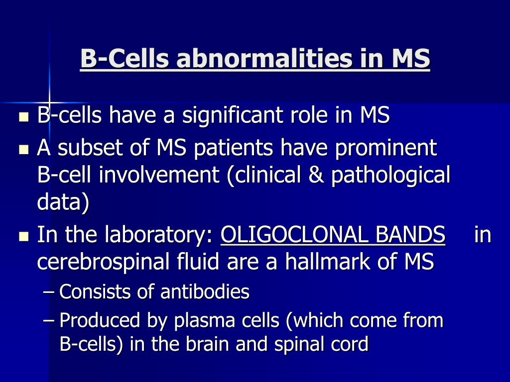 B-Cells abnormalities in MS