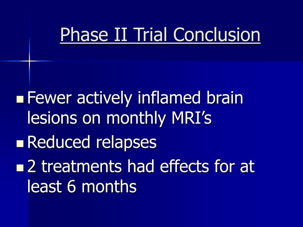 Phase II Trial Conclusion