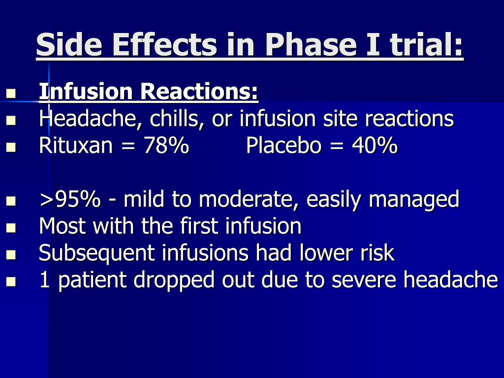 Side Effects in Phase I trial: