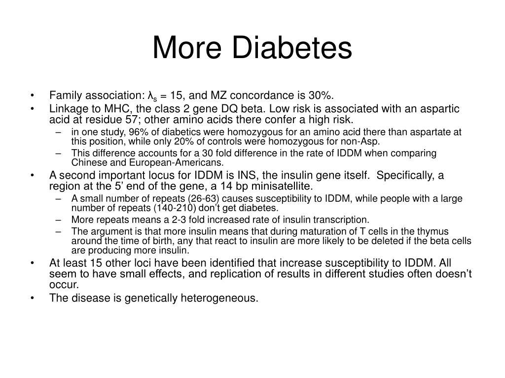 More Diabetes
