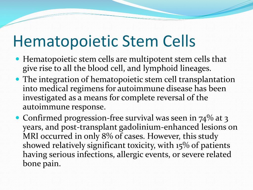 Hematopoietic Stem Cells