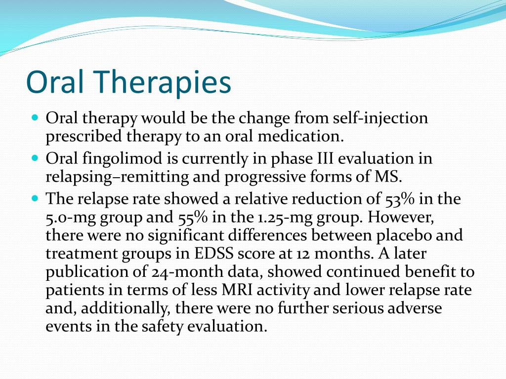 Oral Therapies