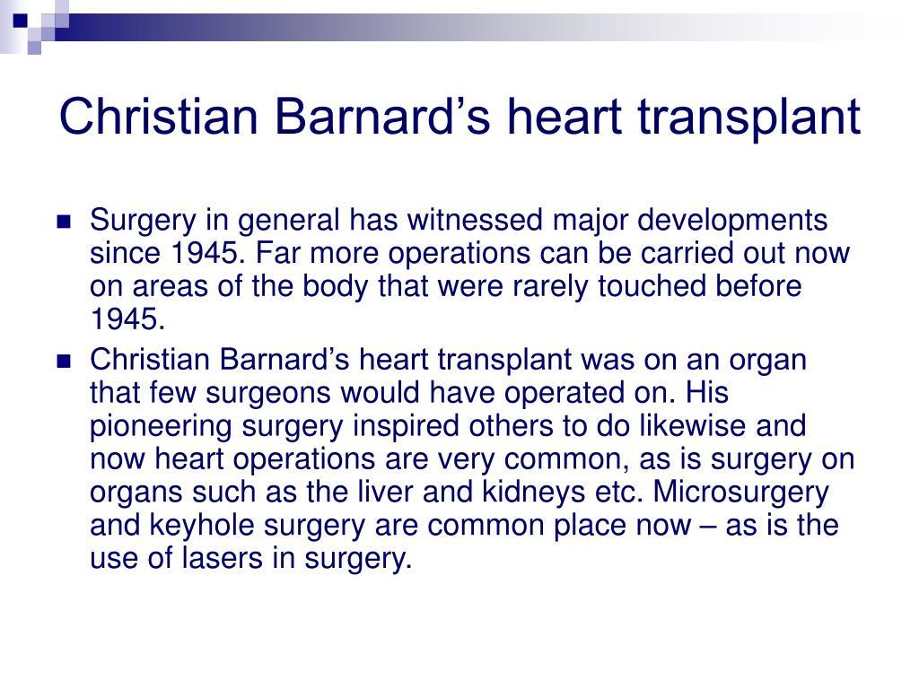 Christian Barnard's heart transplant