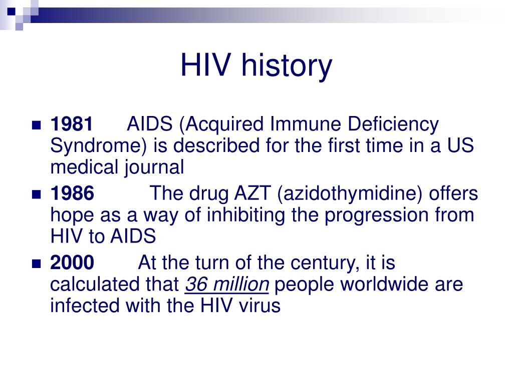 HIV history