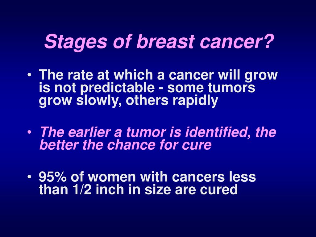 Stages of breast cancer?