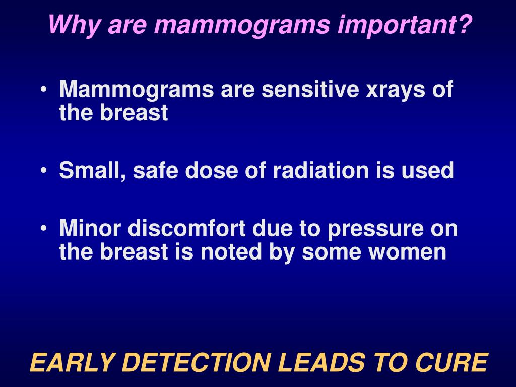 Why are mammograms important?