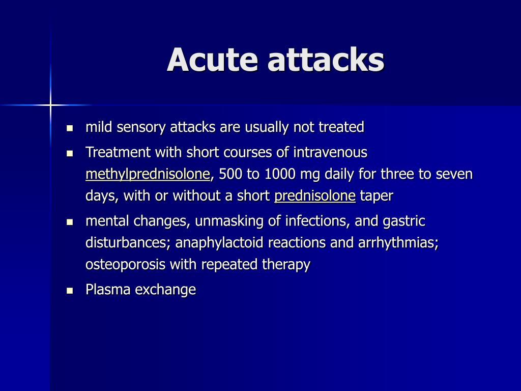 Acute attacks