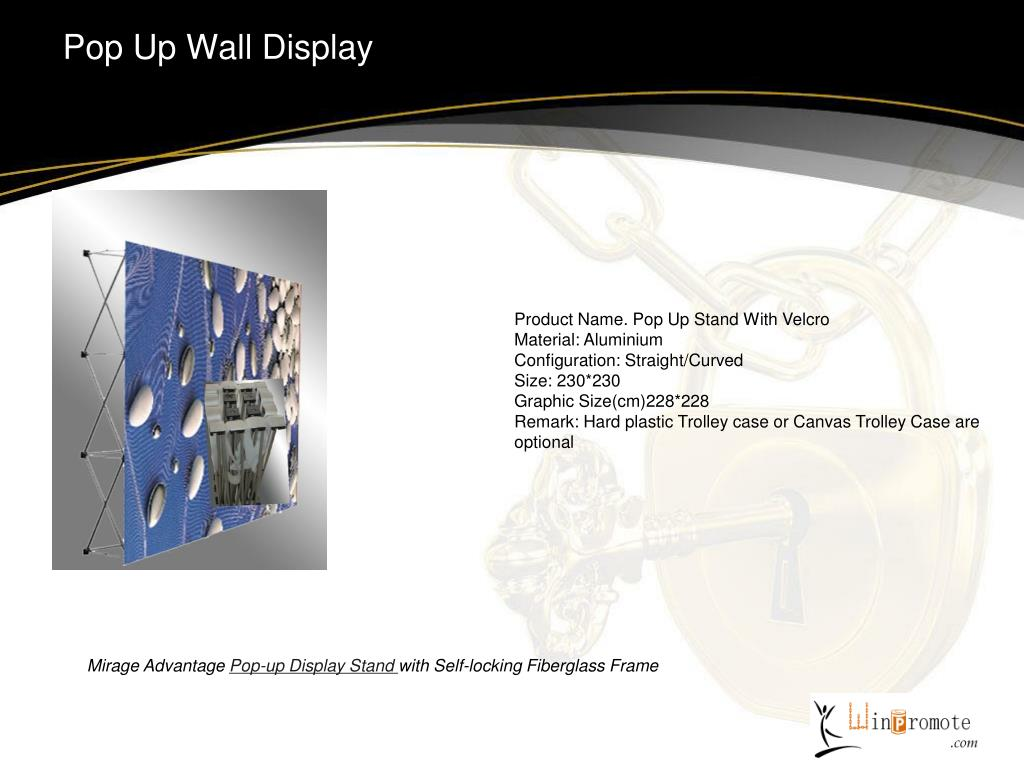 Pop Up Wall Display
