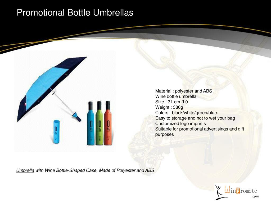 Promotional Bottle Umbrellas