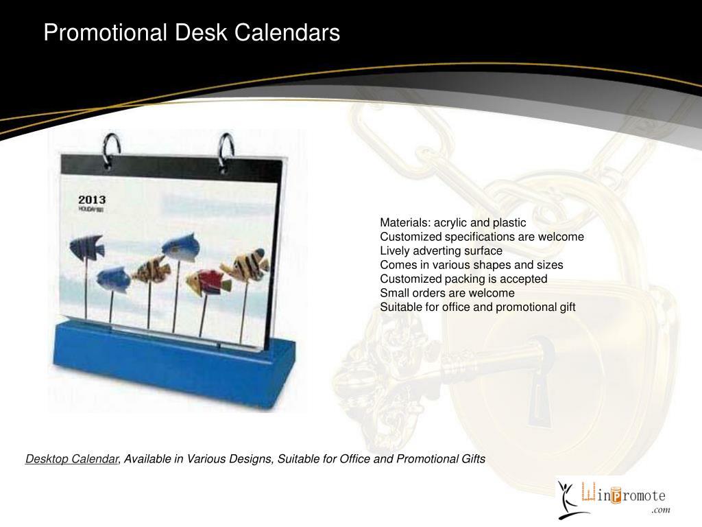 Promotional Desk Calendars