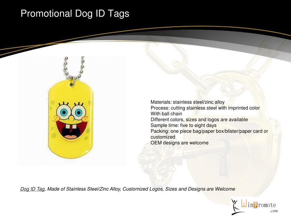 Promotional Dog ID Tags