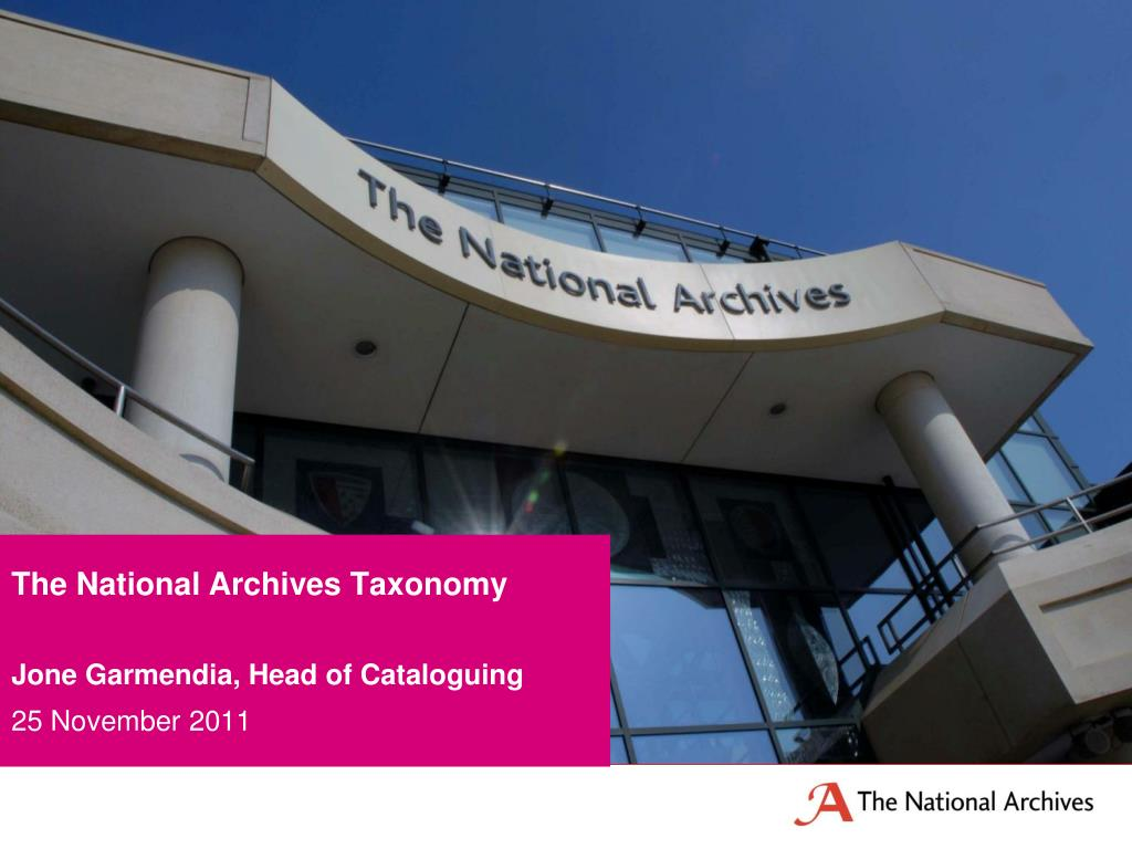 The National Archives Taxonomy