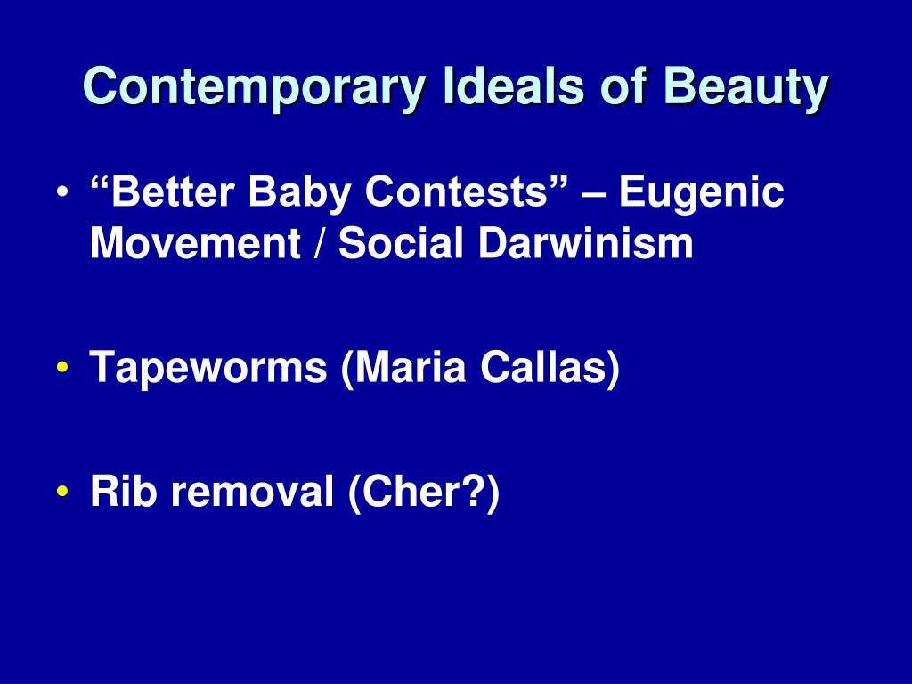 Contemporary Ideals of Beauty