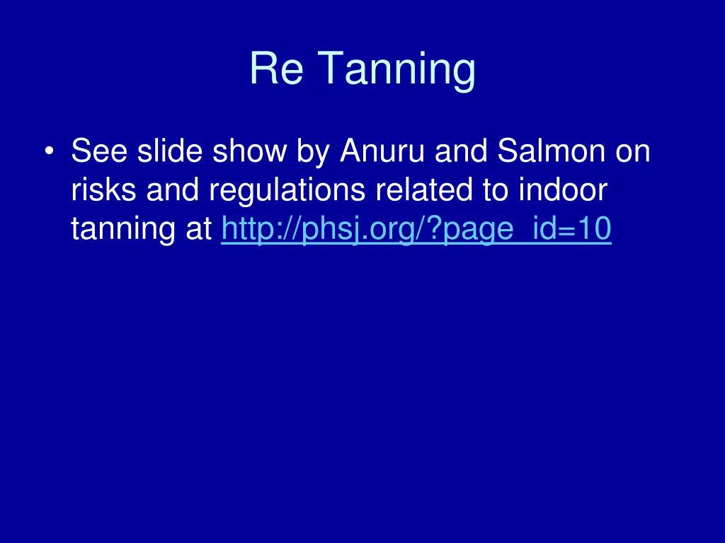 Re Tanning