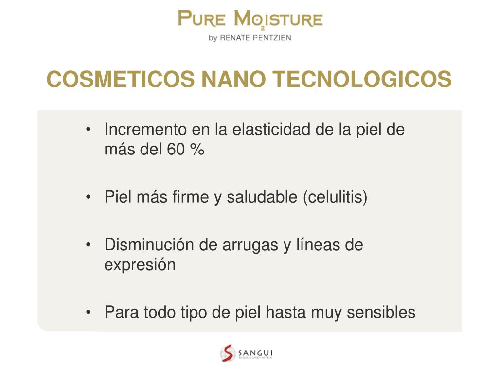 COSMETICOS NANO TECNOLOGICOS