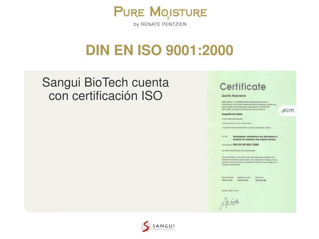 DIN EN ISO 9001:2000