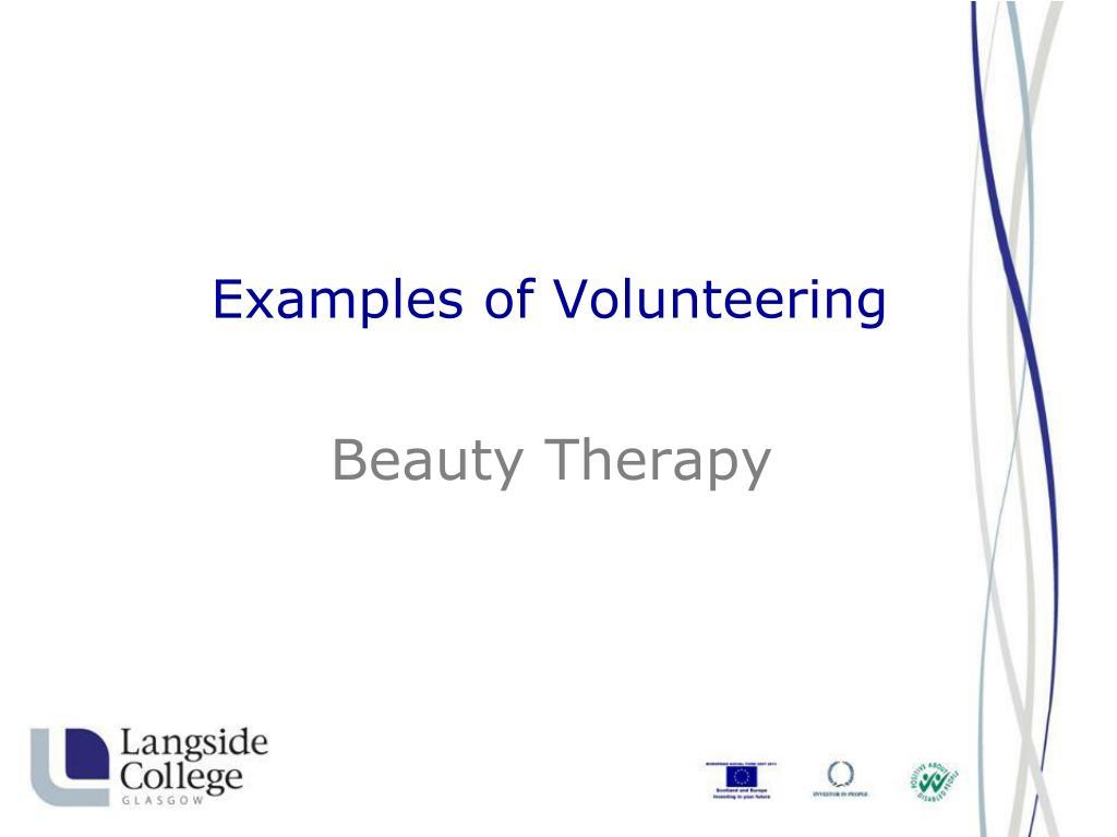 Examples of Volunteering