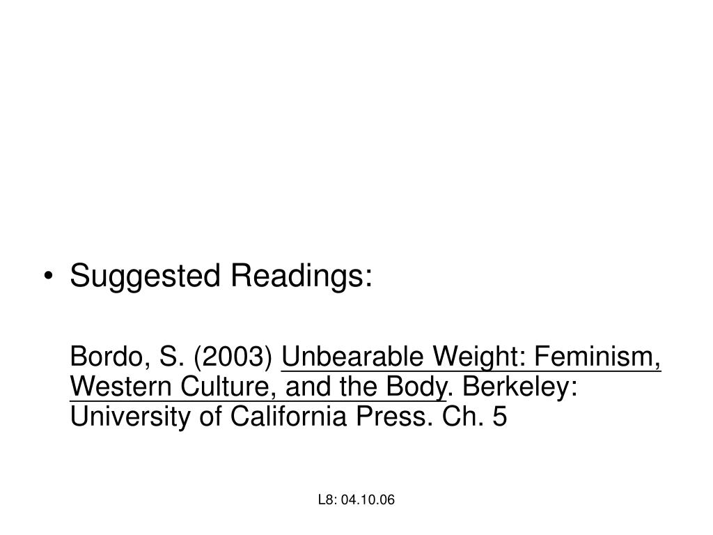 Suggested Readings: