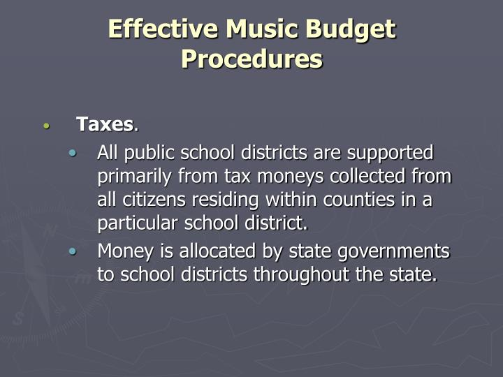 Effective music budget procedures3