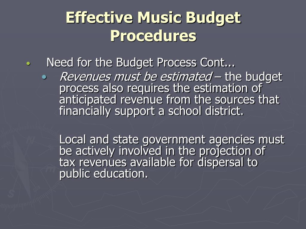 Effective Music Budget Procedures
