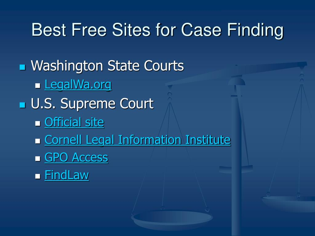 Best Free Sites for Case Finding