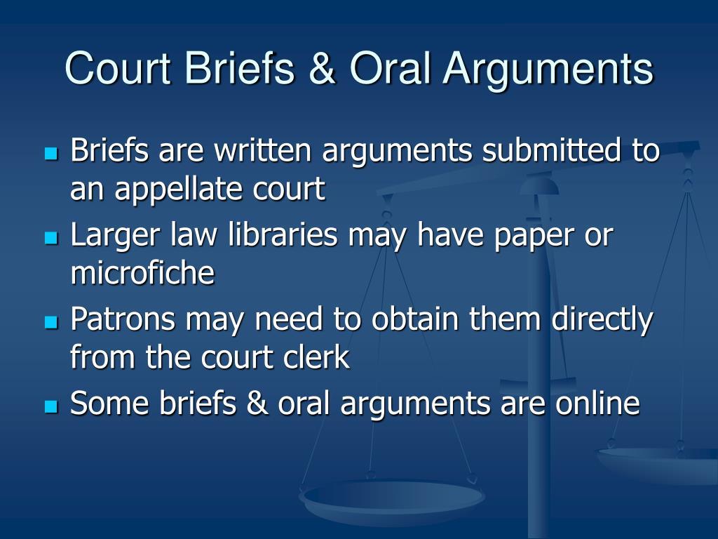 Court Briefs & Oral Arguments