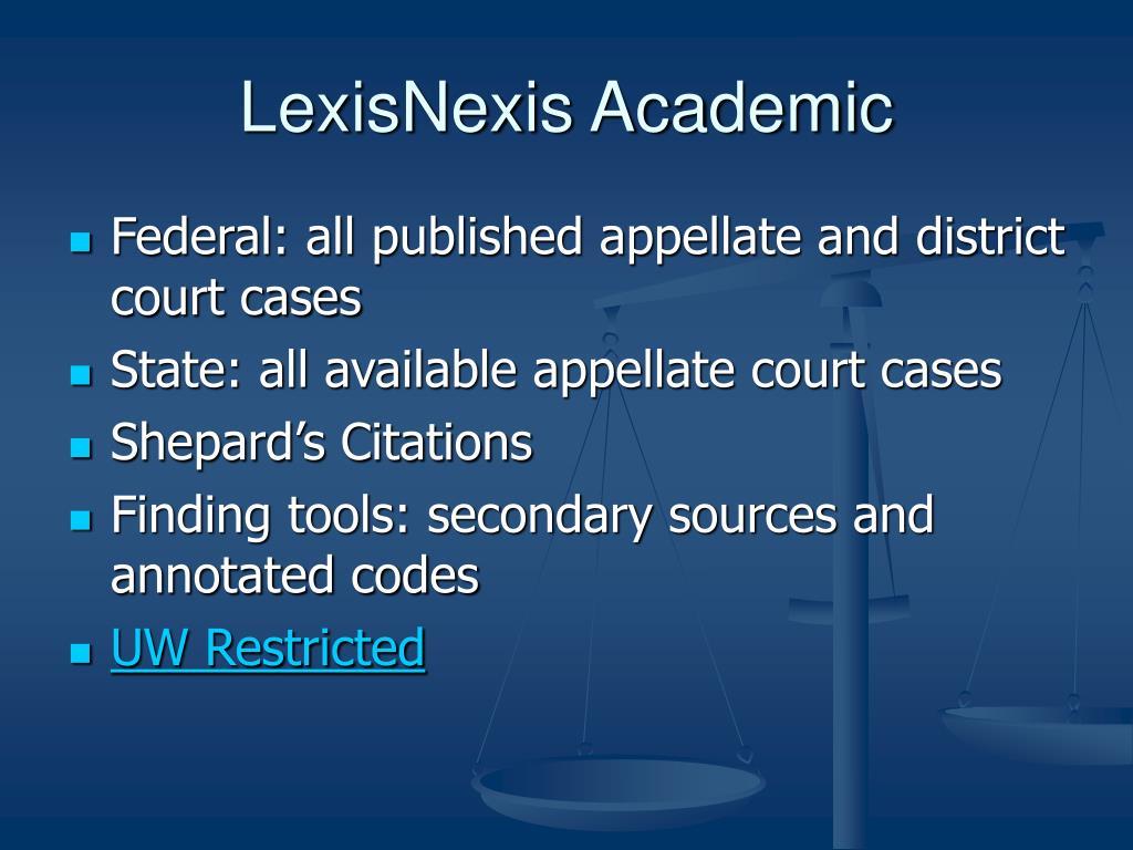 LexisNexis Academic