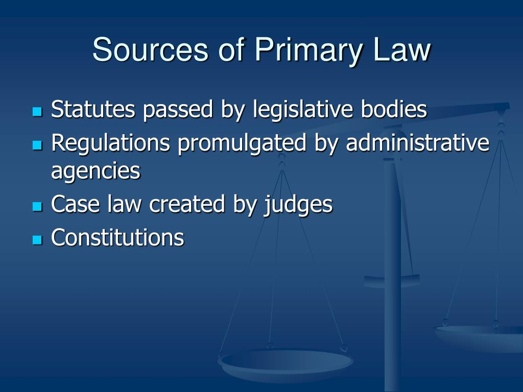 Sources of Primary Law