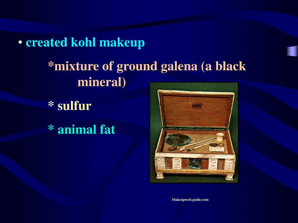 created kohl makeup
