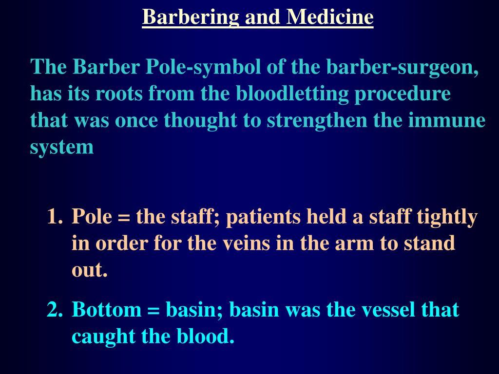 Barbering and Medicine