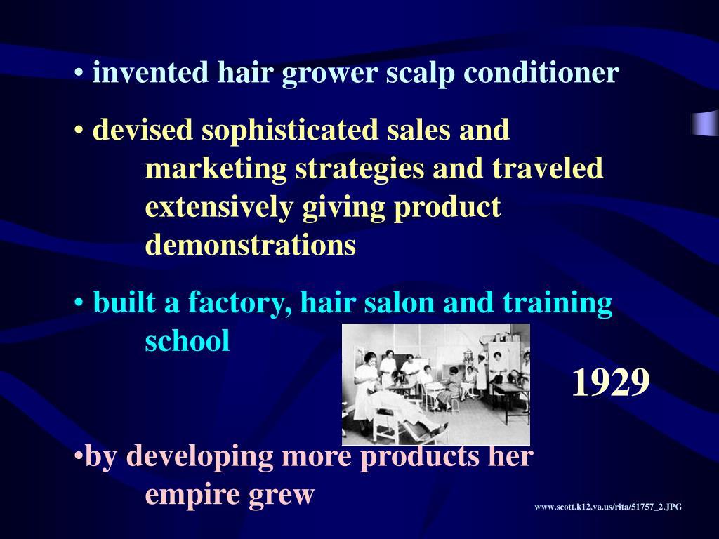 invented hair grower scalp conditioner