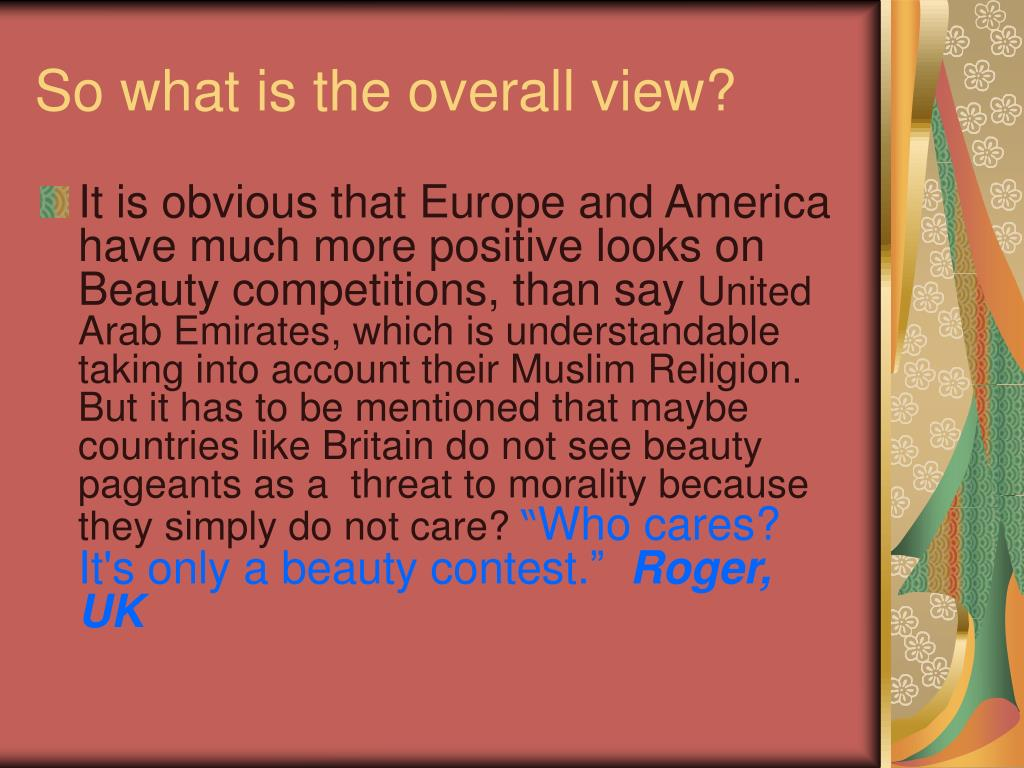 So what is the overall view?