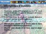 cs challenges questions