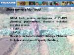 more ownership lead