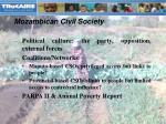 mozambican civil society