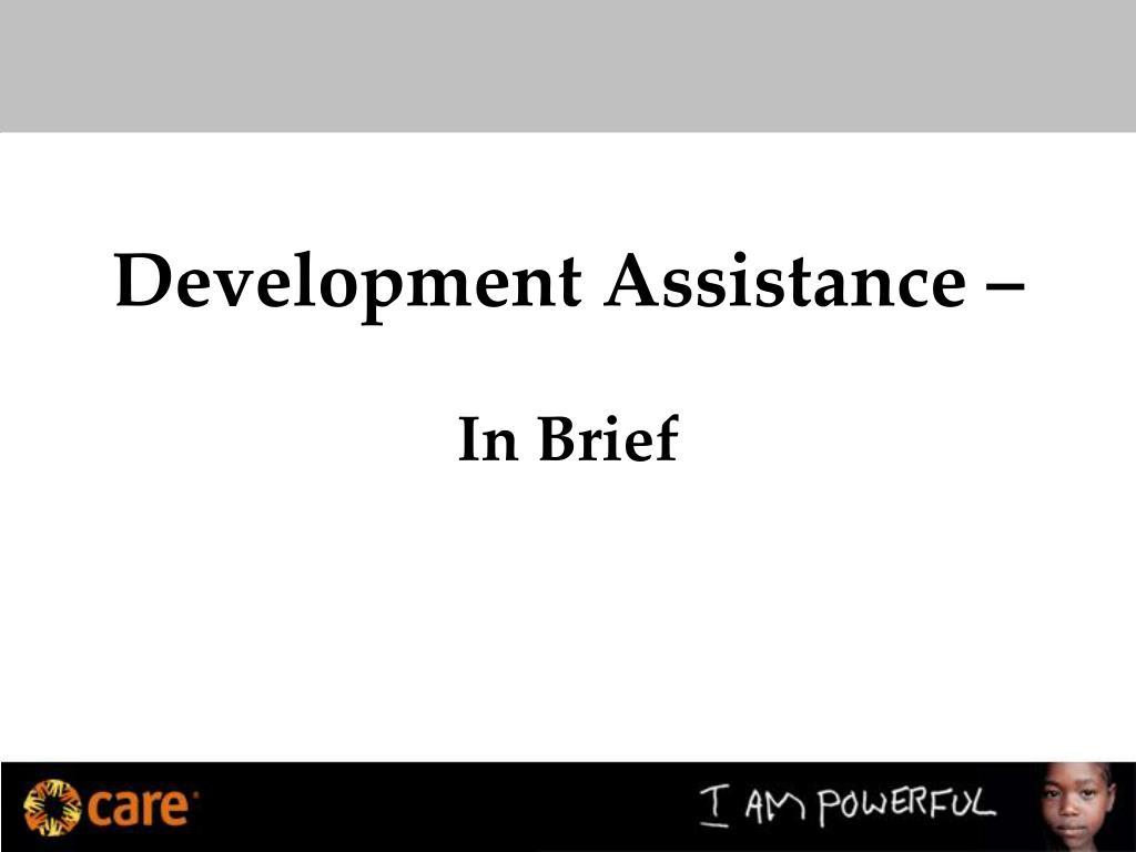 Development Assistance –