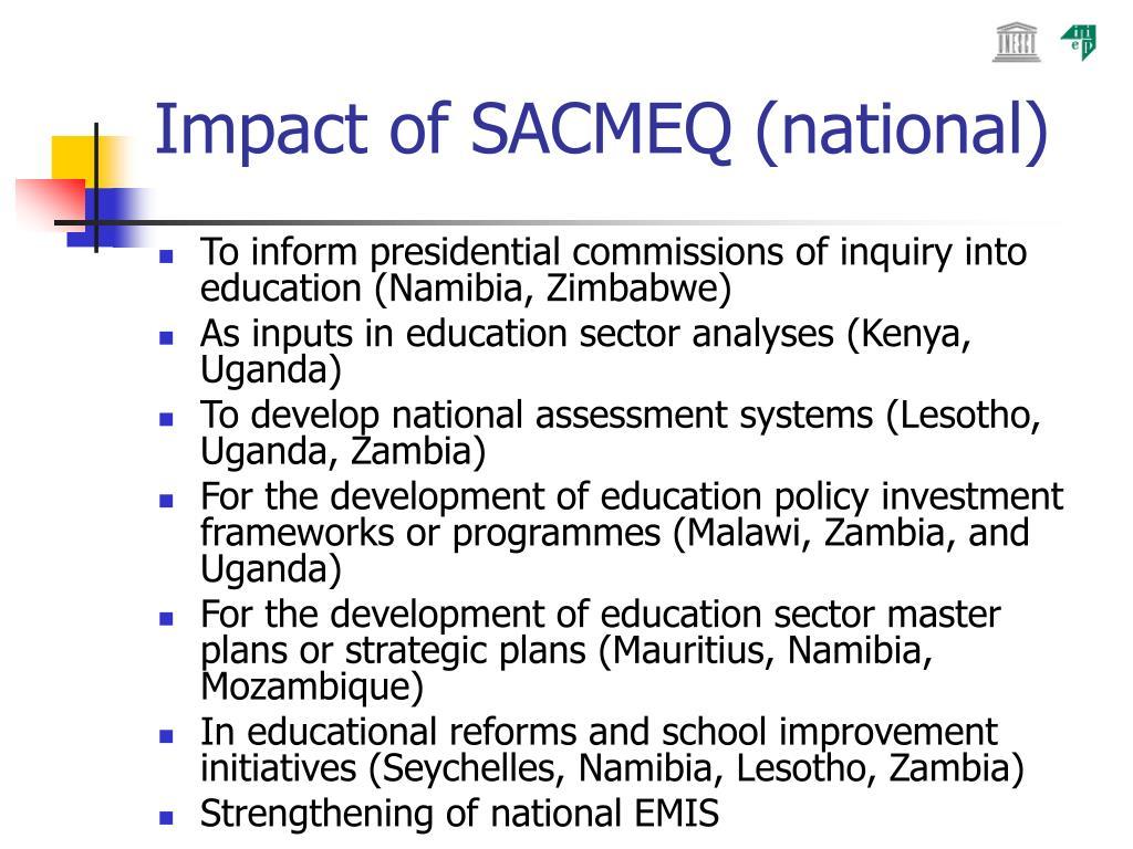 Impact of SACMEQ (national)