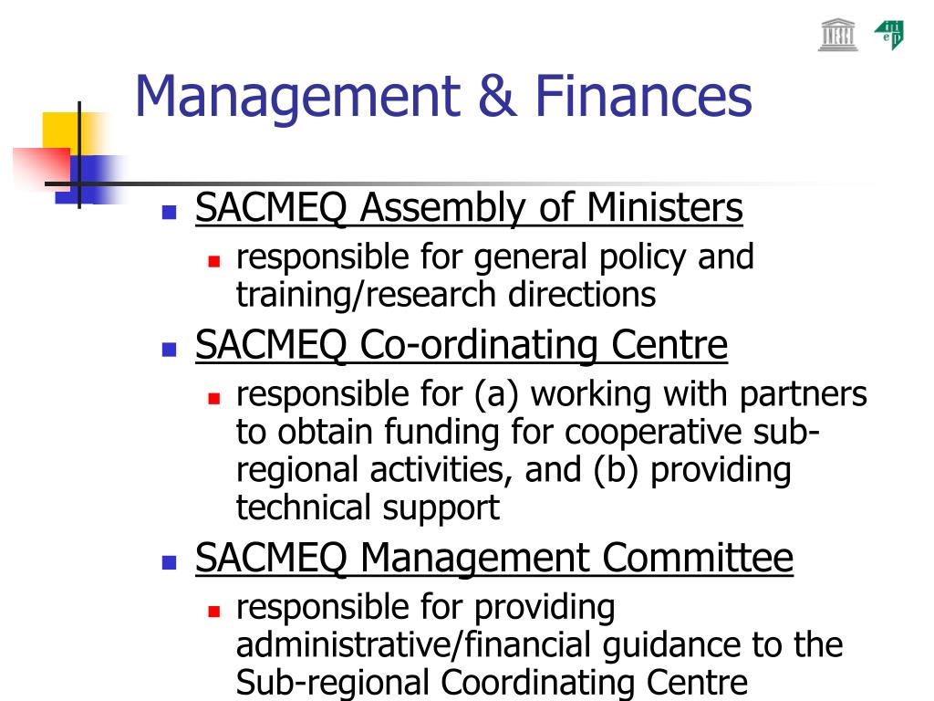 Management & Finances
