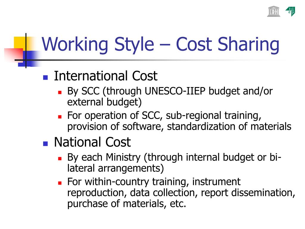 Working Style – Cost Sharing