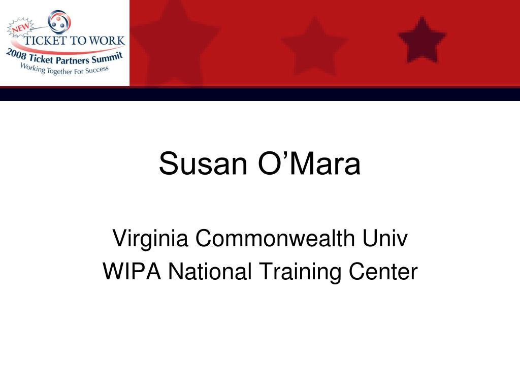 Susan O'Mara