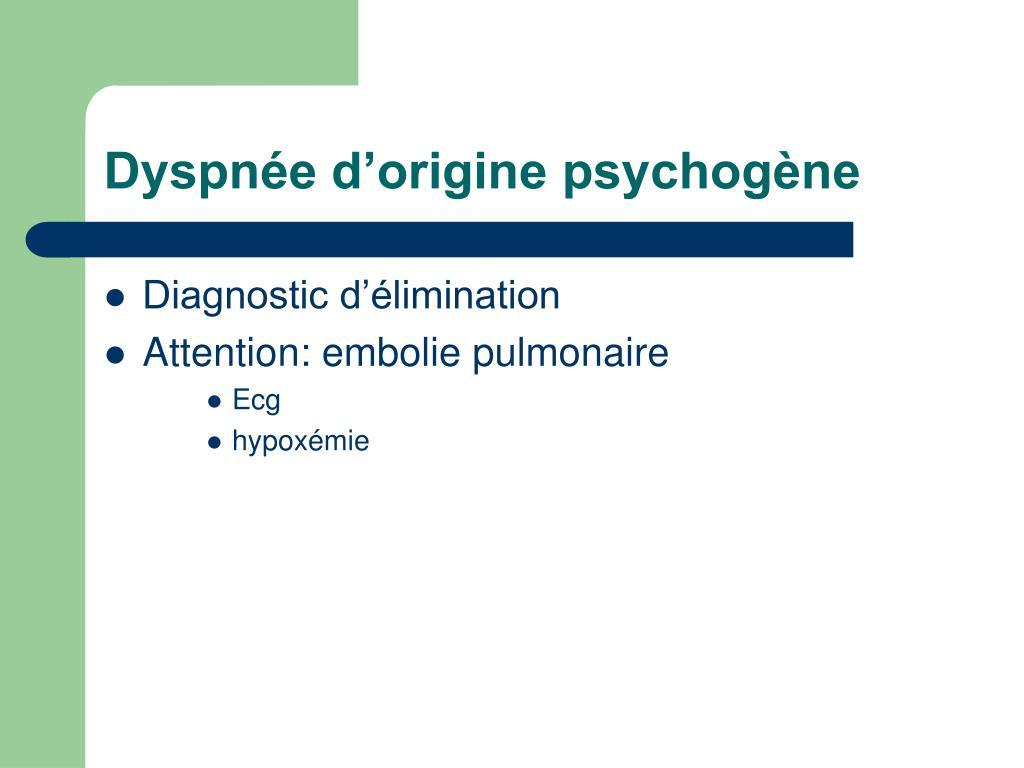 Dyspnée d'origine psychogène
